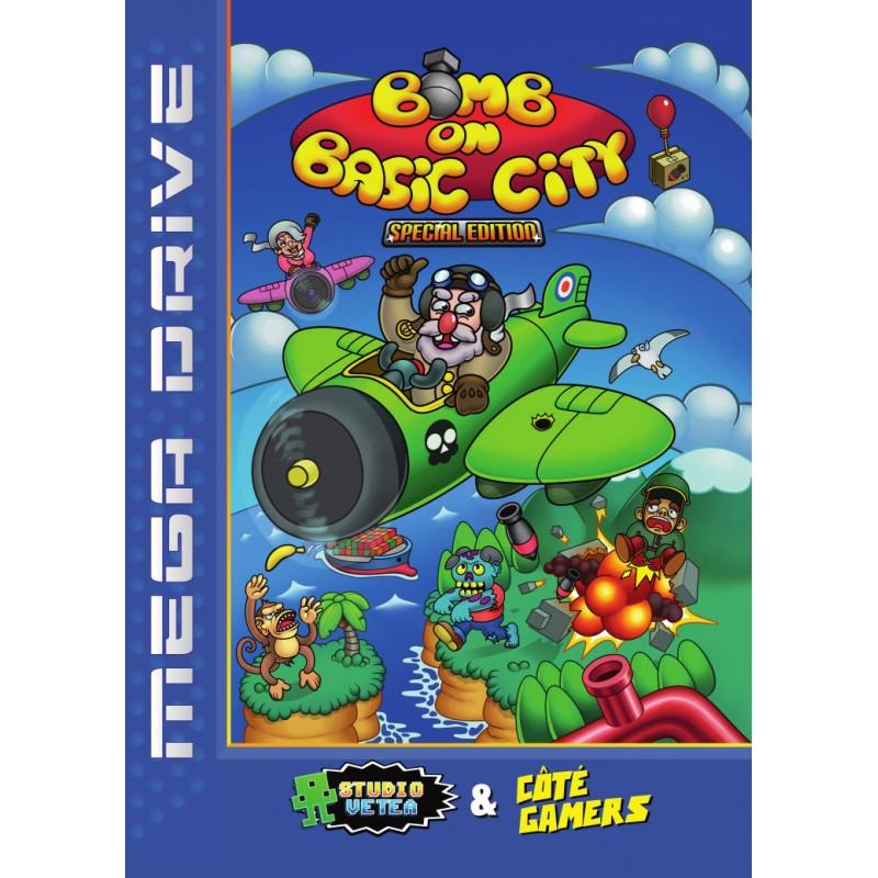 Jaquette Pal-  européenne de Bomb On Basic City, jeu Mega Drive.