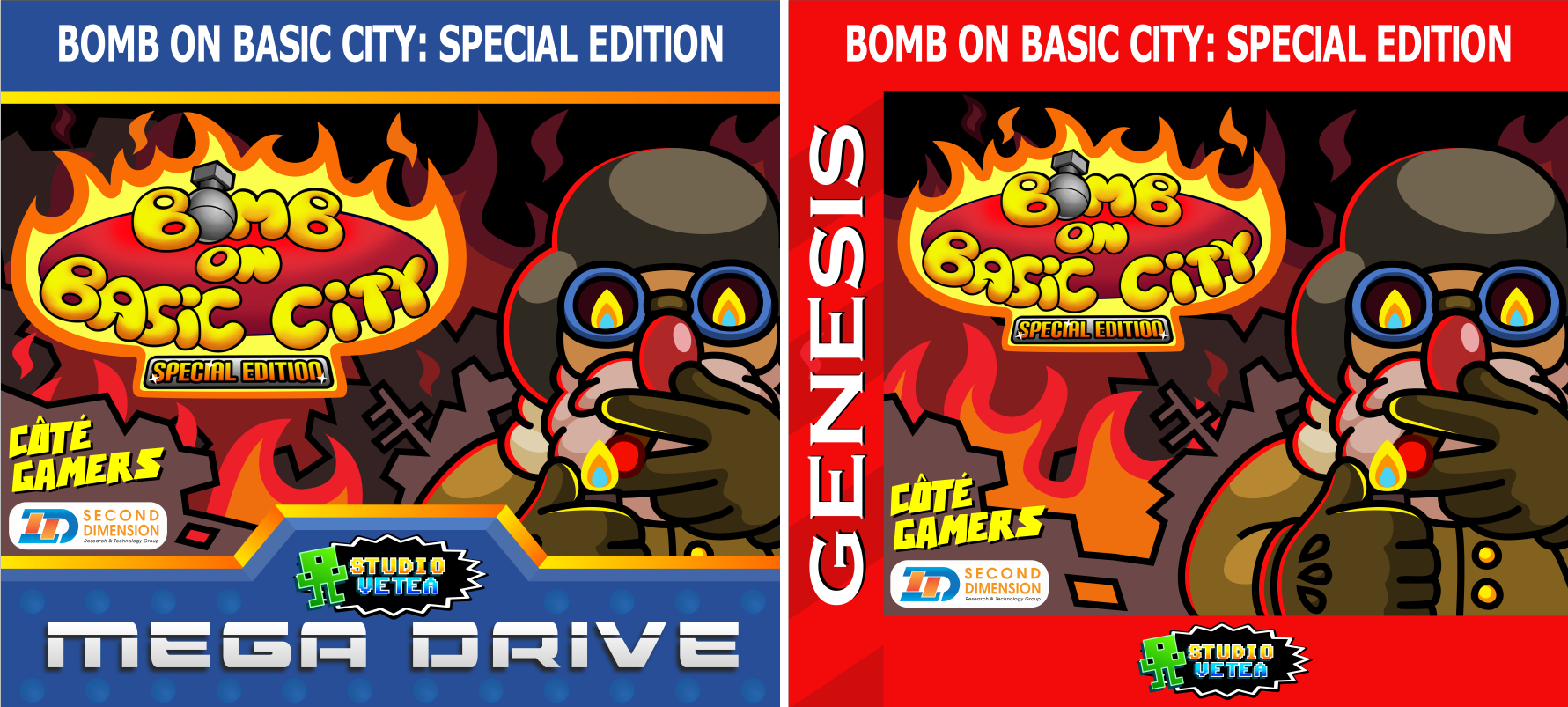Stickers autocollant des cartouches Mega Drive Genesis de Bomb On Basic City