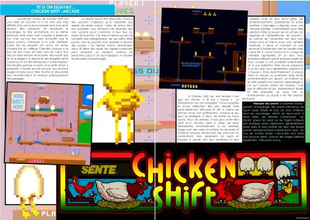 Article sur Chicken Shift pour Arcade du magazine de jeu vidéo Côté Gamers