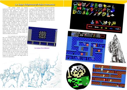 Article sur la Saga Knightmare / Maze of Galious/ Shalom de Konami du magazine de jeu vidéo Côté Gamers
