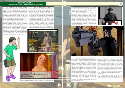 Article sur Goichi Suda 51 du magazine de jeu vidéo Côté Gamers