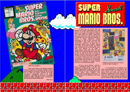 Article sur Super Mario Bros pour PC japonais, NEC PC-88 du magazine de jeu vidéo Côté Gamers
