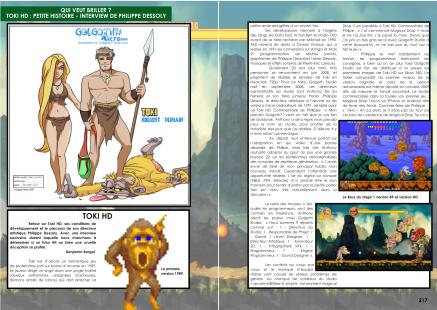 Article sur Toki Remix du magazine de jeu vidéo Côté Gamers