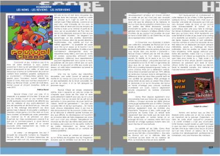 Article sur Revival Chase pour PC-engine Super CD-Rom du magazine de jeu vidéo Côté Gamers