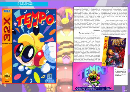 Article sur Tempo pour 32X, Game Gear et Sega Saturn du magazine de jeu vidéo Côté Gamers