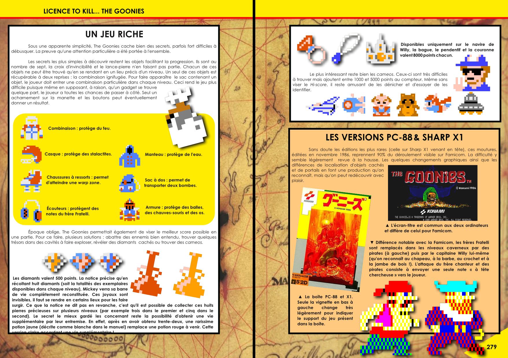 The Goonies sur Arcade, MSX, PC88, Famicom, ZX, Atari 800, C64 article de Côté Gamers