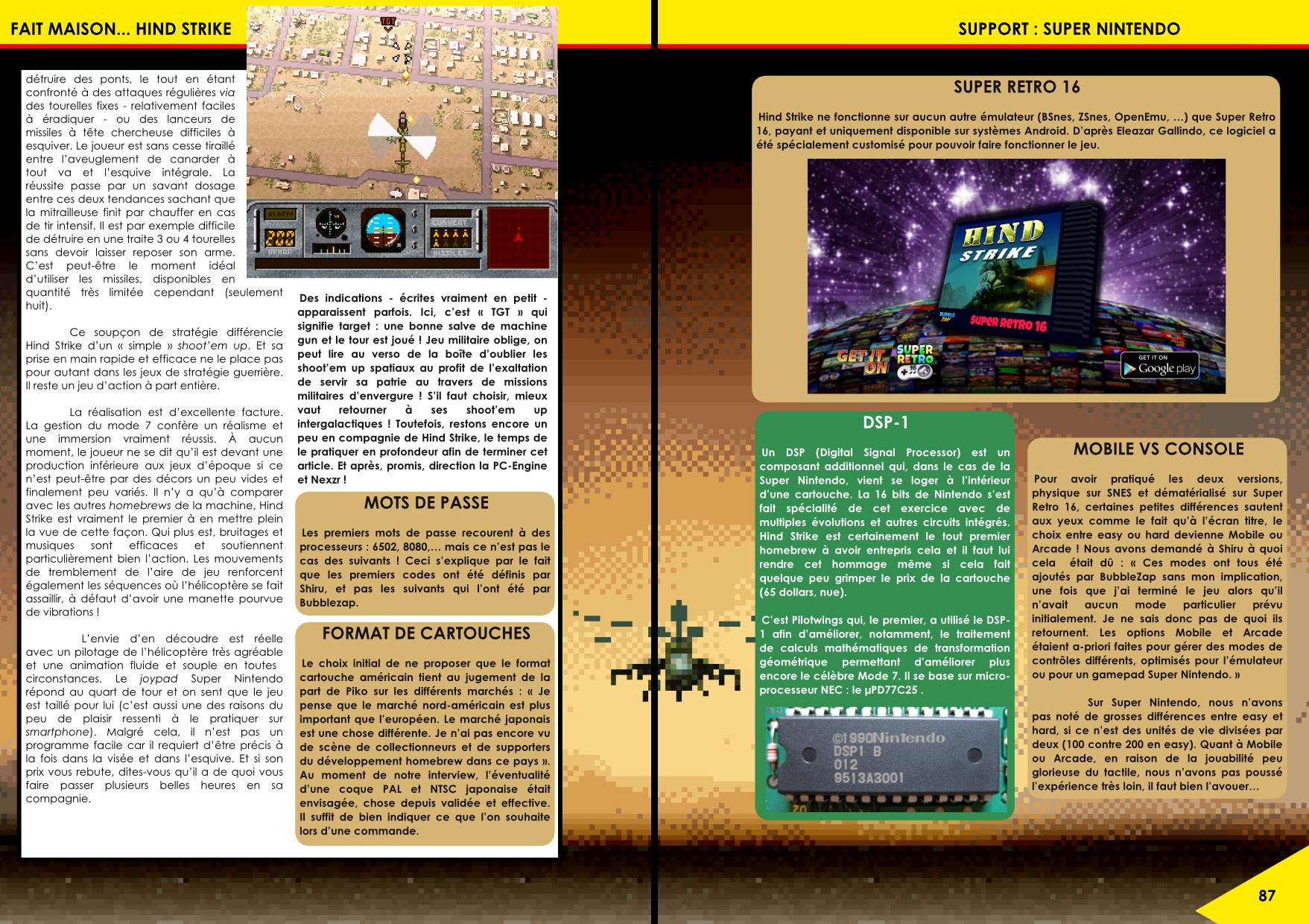 Hind Strike Super Nintendo de Piko Interactve article de Côté Gamers