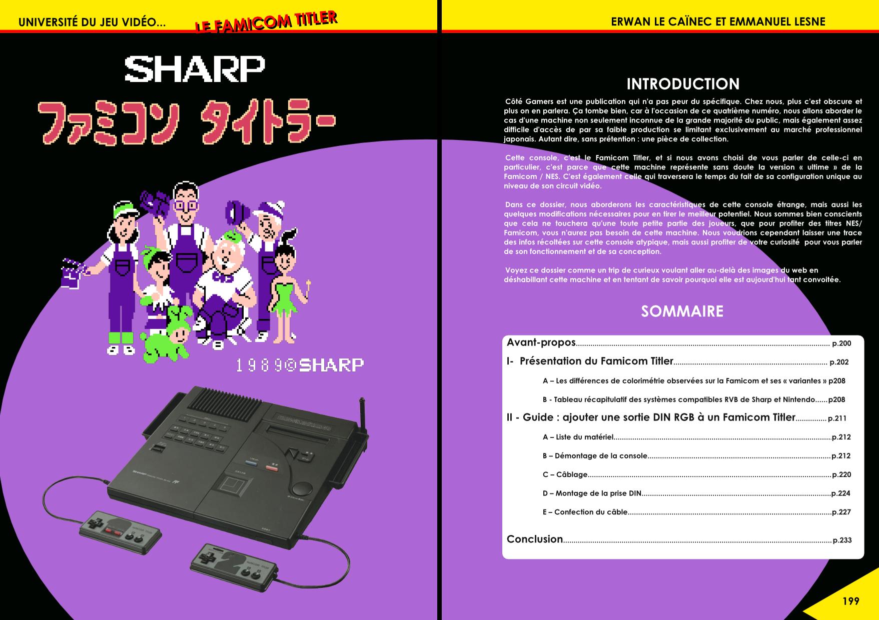 Le Famicom Titler de Sharp, une étrange Famicom, NES article de Côté Gamers