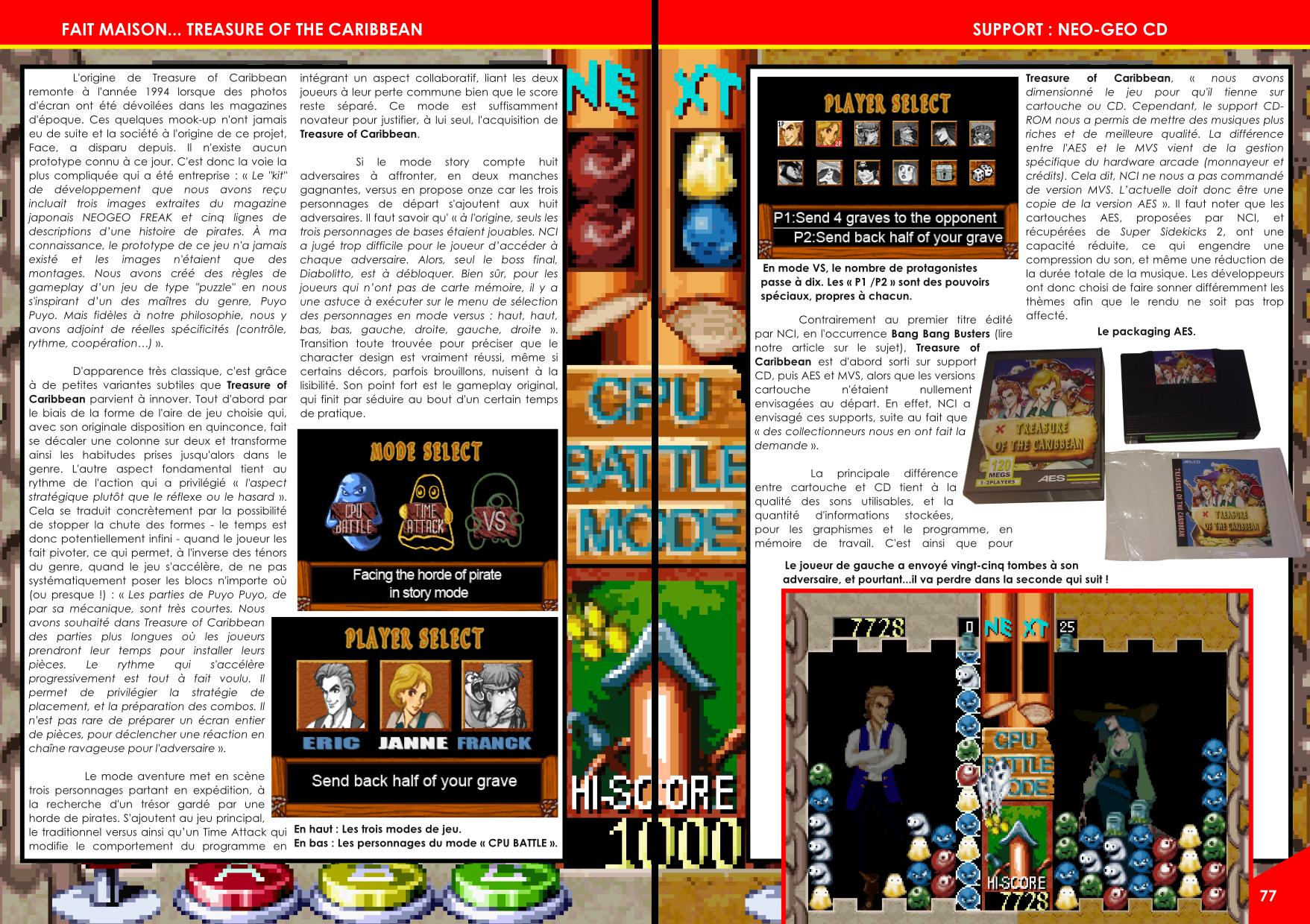 Treasure Of The Caribbean Neo Geo de NCI article de Côté Gamers