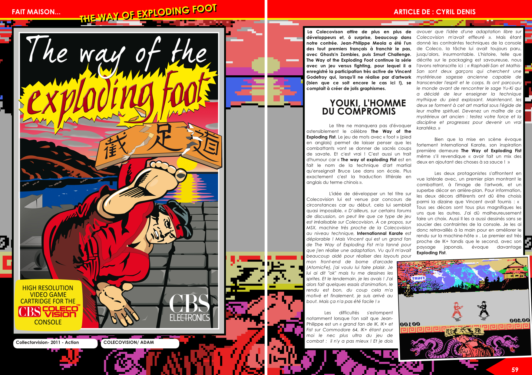 The Way Of The Exploding Foot ColecoVision  article de Côté Gamers