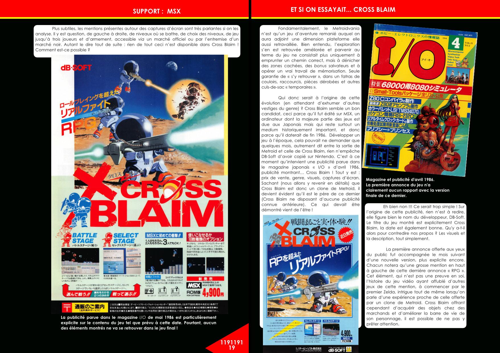 Cross Blaim sur MSX un clone de Metroid article de Côté Gamers