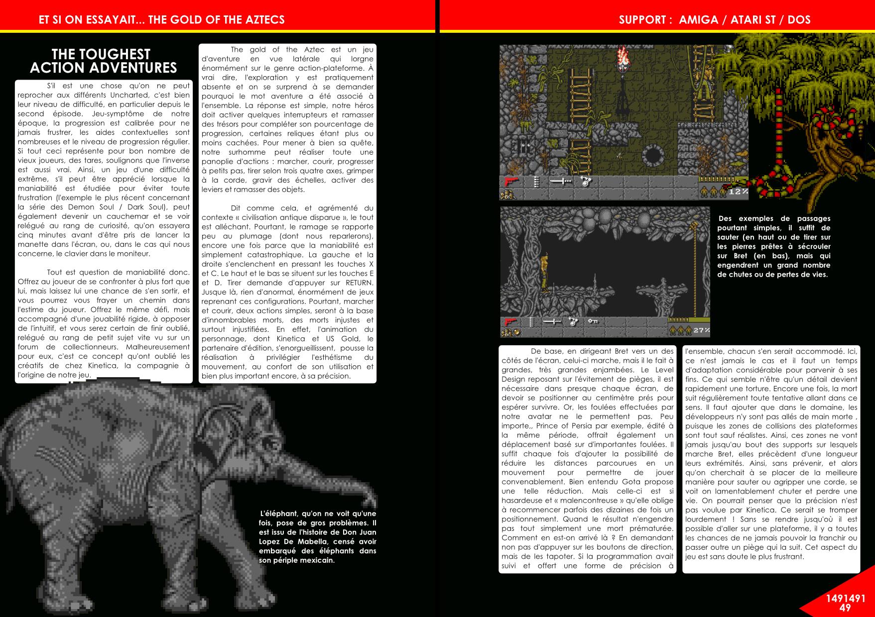 The Gold Of The Aztecs sur Amiga par Kinetica article de Côté Gamers