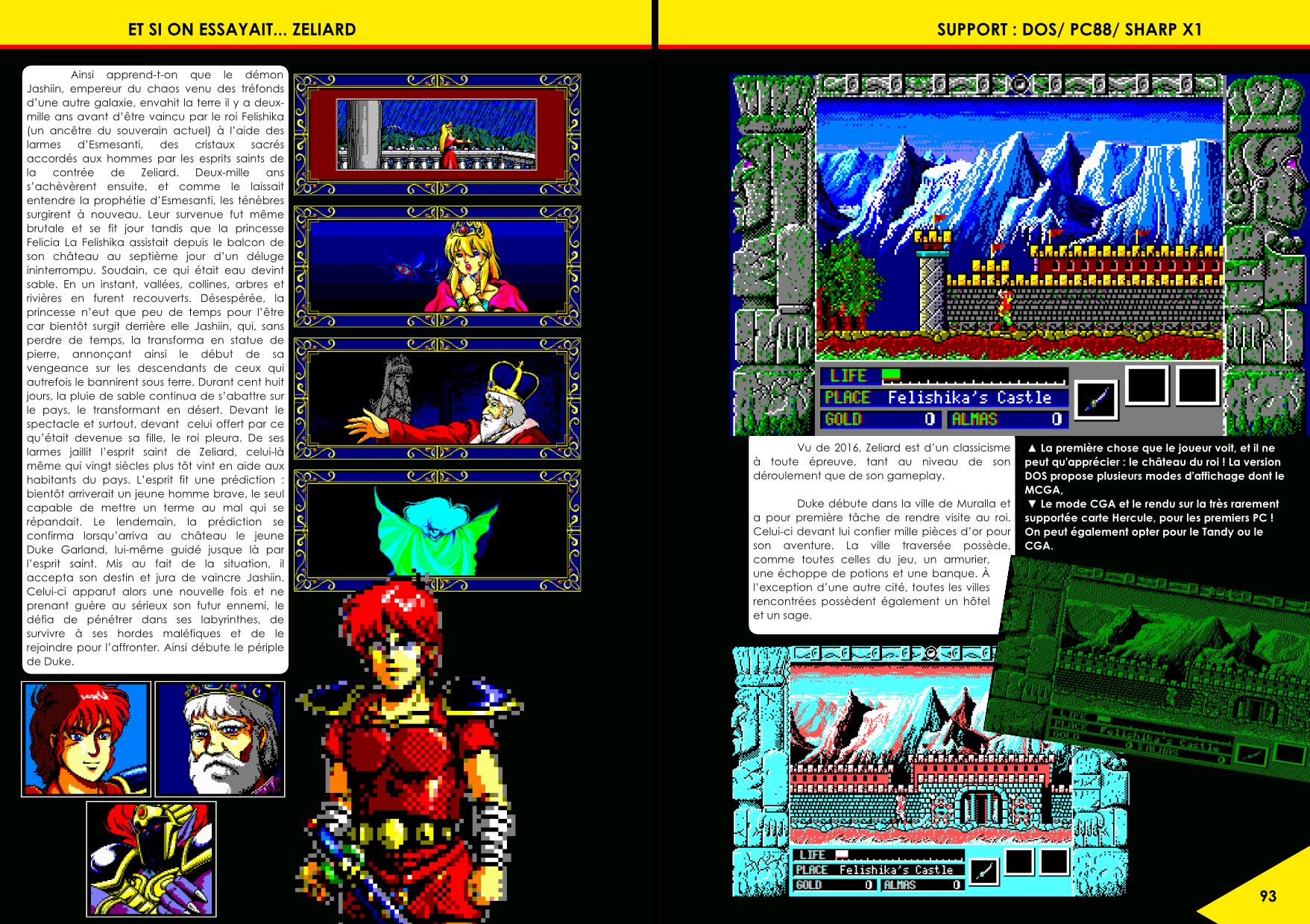 le RPG Zeliard de Game Arts édité par Sierra sur DOS  article de Côté Gamers