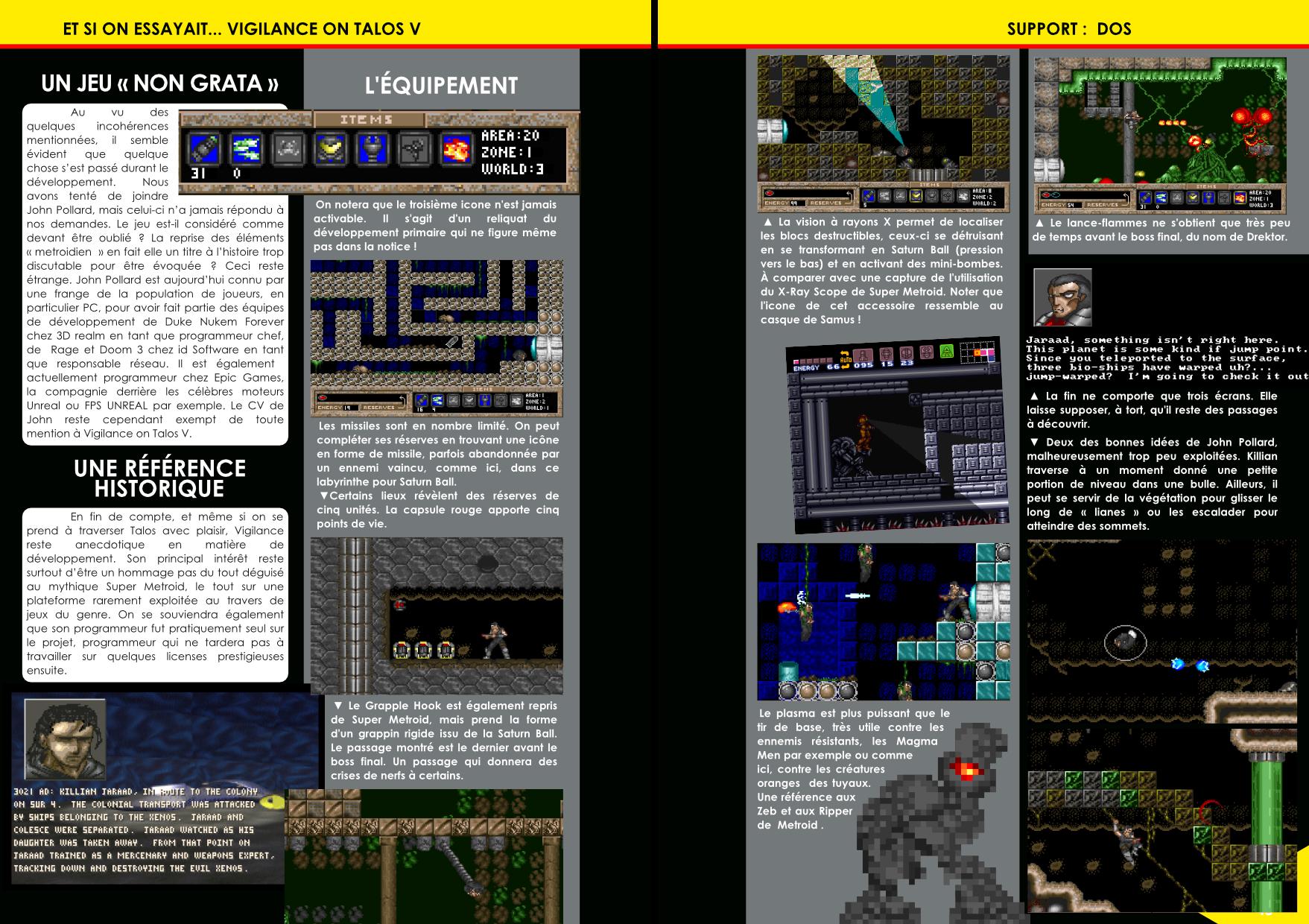 Vigilance on Talos V de PolyEx Software, un clone de Super Metroid article de Côté Gamers