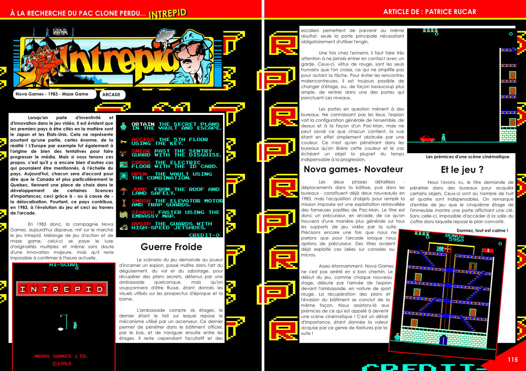 Intrepid sur Arcade de Nova Games article du magazine Côté Gamers