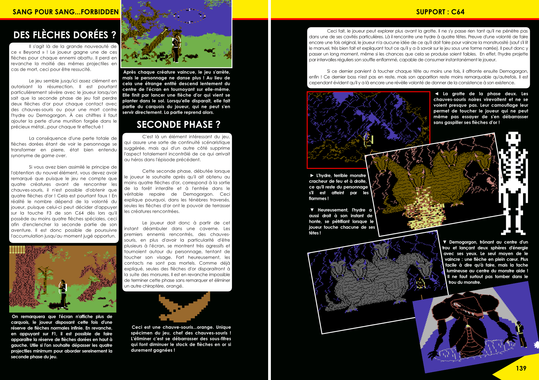 Forbidden Forest et Beyond Forbidden Forest C64, Atari 800 article du magazine Côté Gamers