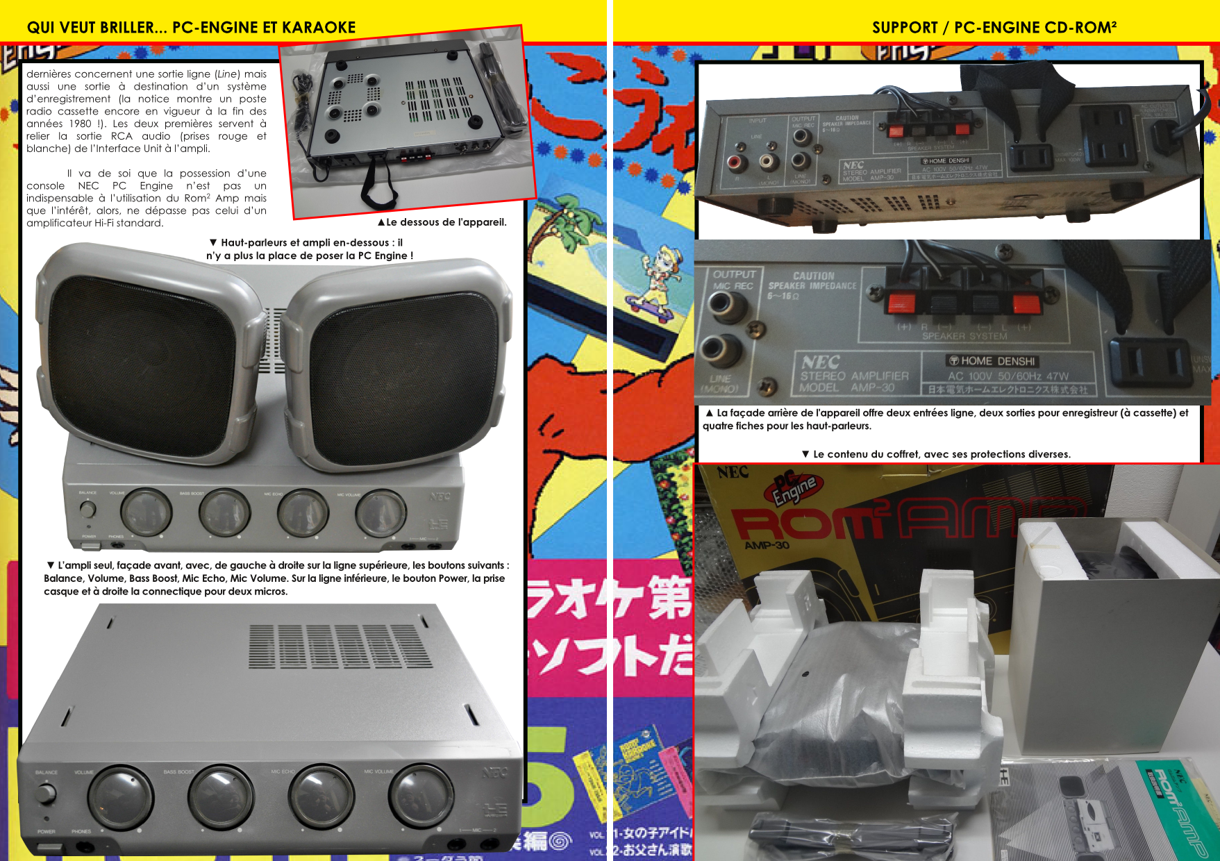 ROM ROM AMP PC-Engine et Karaoke article du magazine Côté Gamers