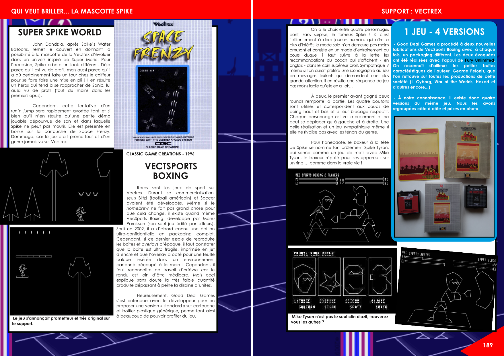 Spike vectrex article du magazine Côté Gamers