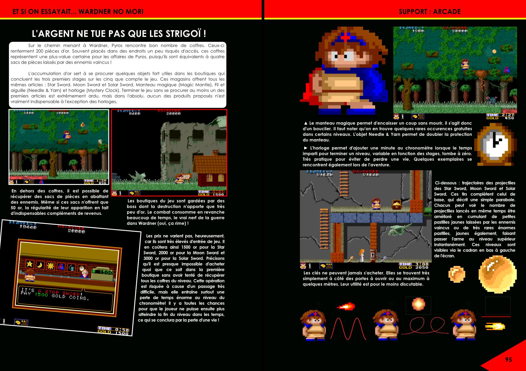 Wardner no Mori, Pyros de Toaplan pour Arcade, Mega Drive, Genesis, NES, Famicom article du magazine Côté Gamers