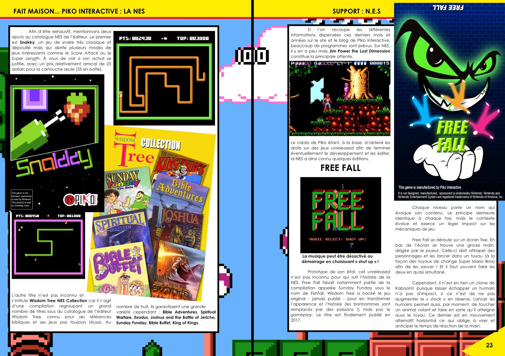 Les jeux NES édités par Piko Interactive article du magazine Côté Gamers