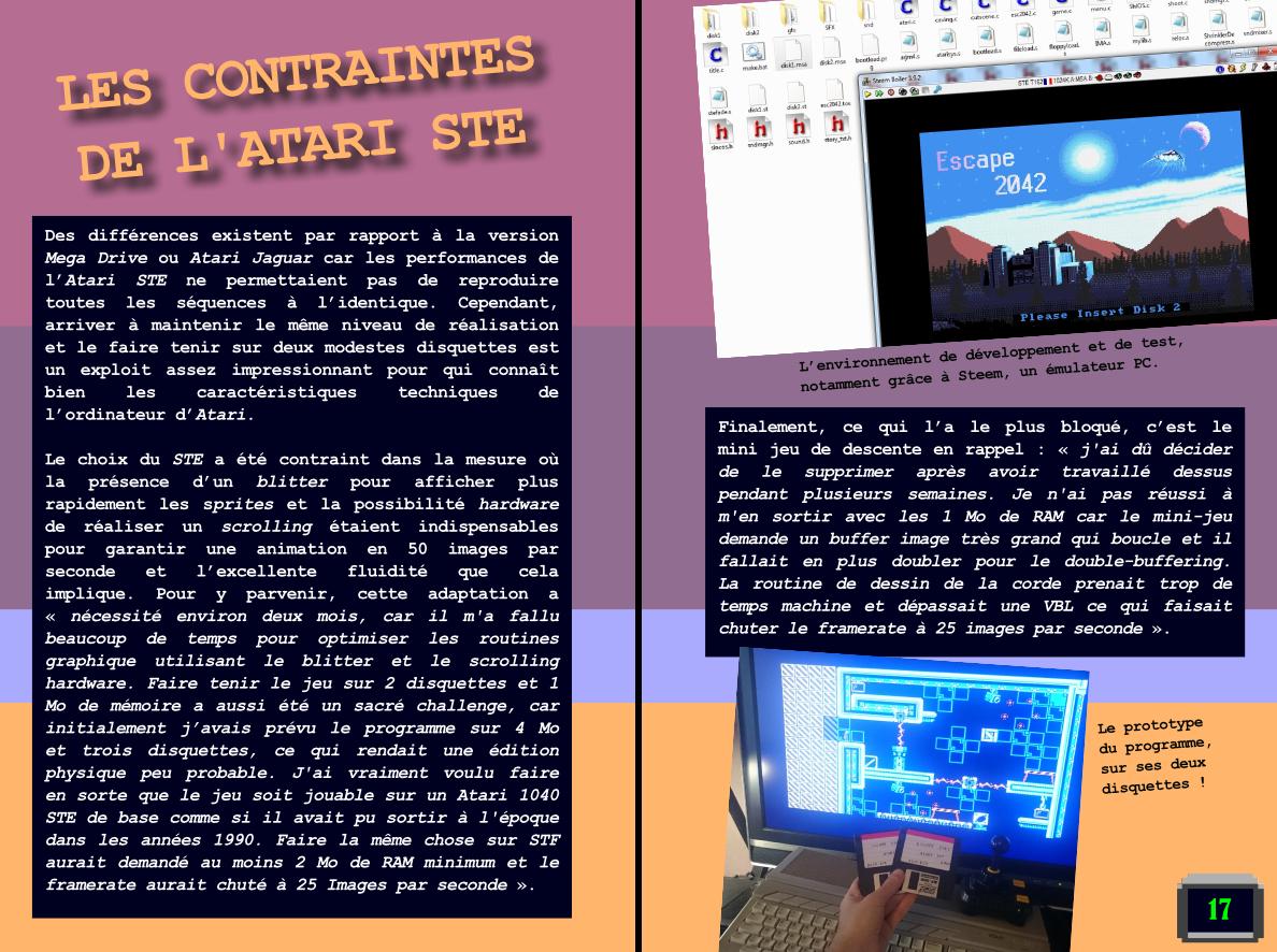 jeu Escape 2042 pour Atari STe par Orion chez Côté Gamers