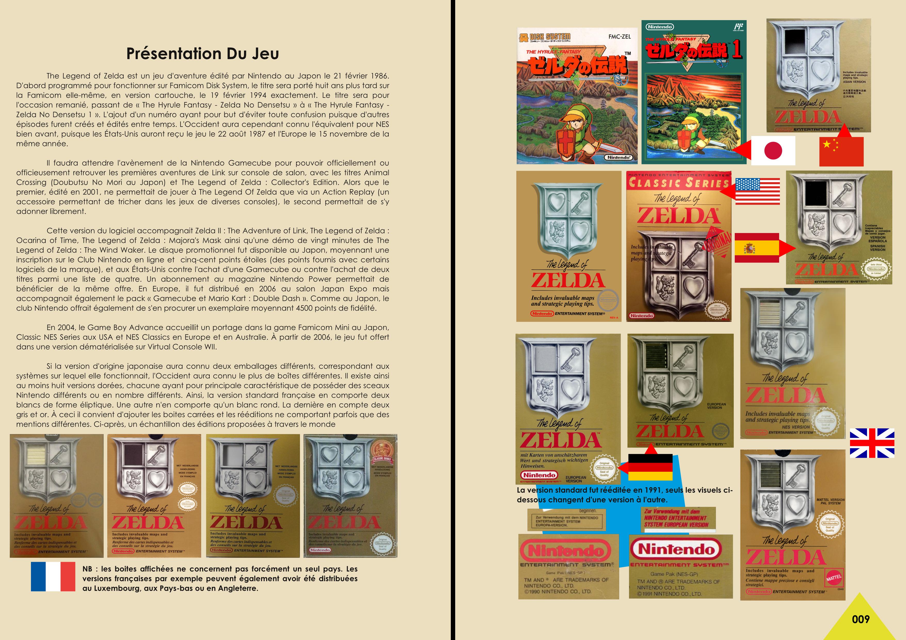 Livre sur The Legend Of Zelda NES, Famicom avec description du scénario de chez Côté Gamers