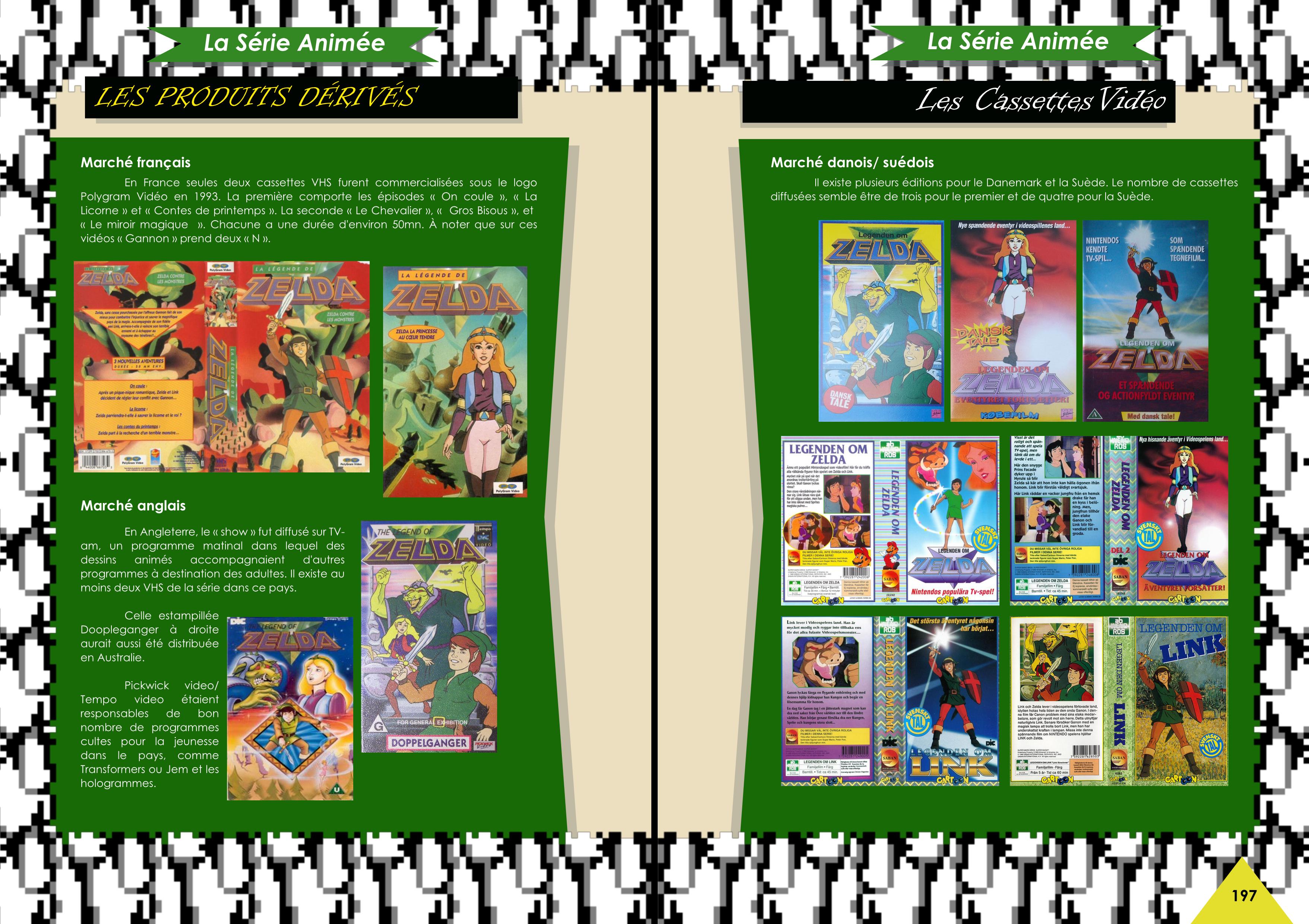 Livre sur The Legend Of Zelda avec le dessin animée Princess Zelda de chez Côté Gamers