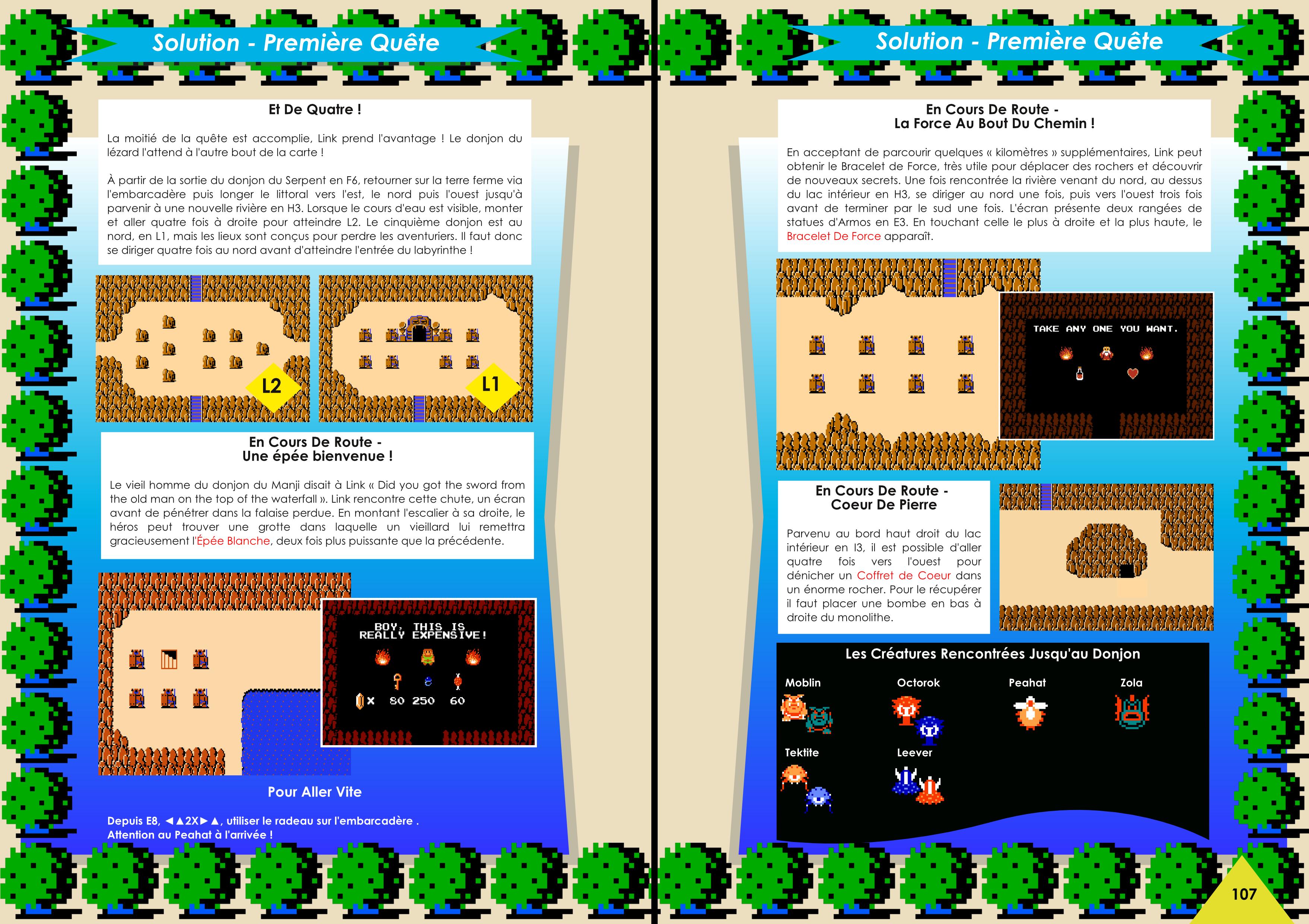 Livre sur The Legend Of Zelda avec solution des deux quêtes de chez Côté Gamers
