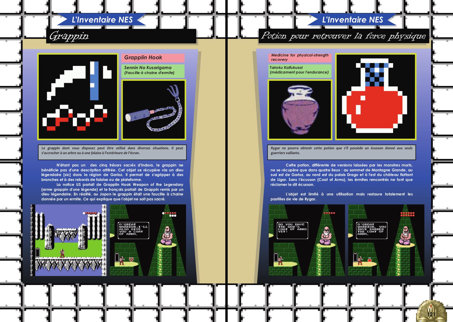 Livre sur Rygar Arcade, Nes avec inventaire de Côté Gamers