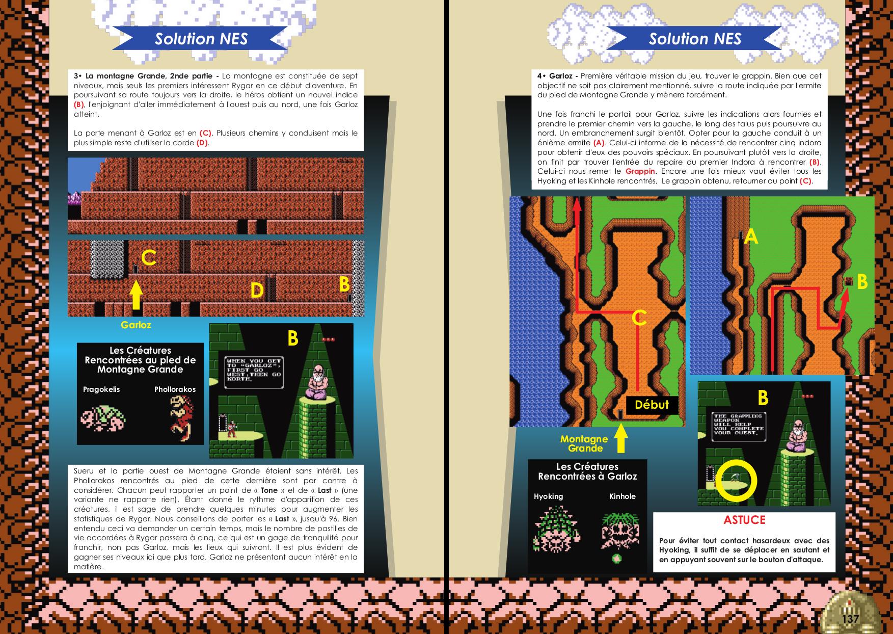 Livre sur Rygar Arcade, Nes avec solution de Côté Gamers