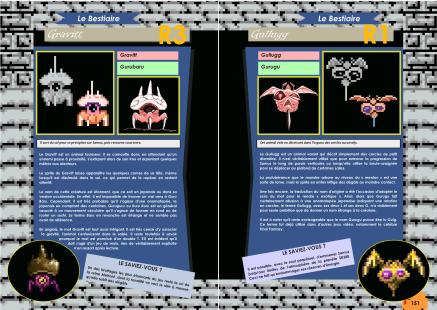 Livre avec le bestiaire de Metroid II - Return of Samus sur Game Boy de Chez Côté Gamers