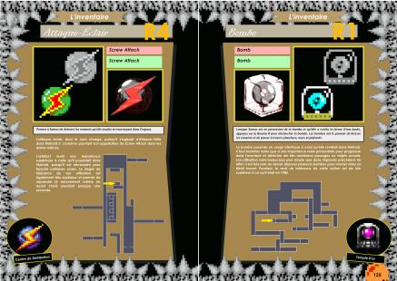 Livre avec l'inventaire de Metroid II - Return of Samus sur Game Boy de Chez Côté Gamers