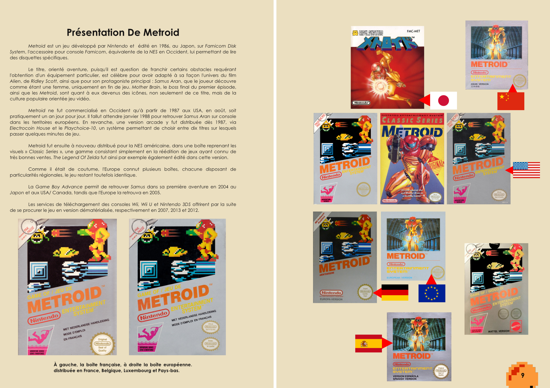 Livre sur Metroid sur NES et Metroid II Return Of Samus sur Game Boy de Chez Côté Gamers