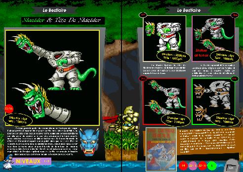 Livre avec bestiaire de Ghouls'n Ghosts Mega Drive/ Genesis, Master system, Amiga de Côté Gamers
