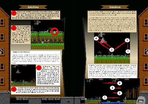 Livre avec solution arcade, NES/Famicom et PC-88 de Ghosts'n Goblins de Côté Gamers