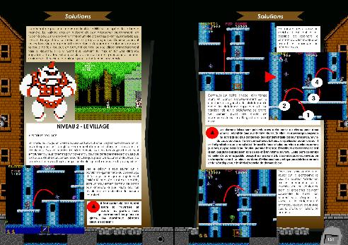 Livre avec solution arcade, PC-88 et NES/Famicom de Ghosts'n Goblins de Côté Gamers
