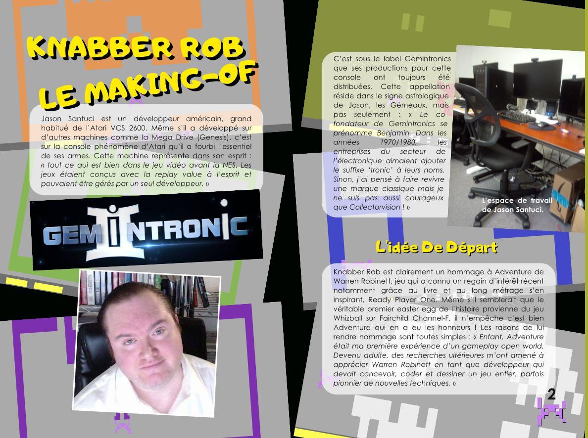 Atari 2600 Knabber rob - aventure