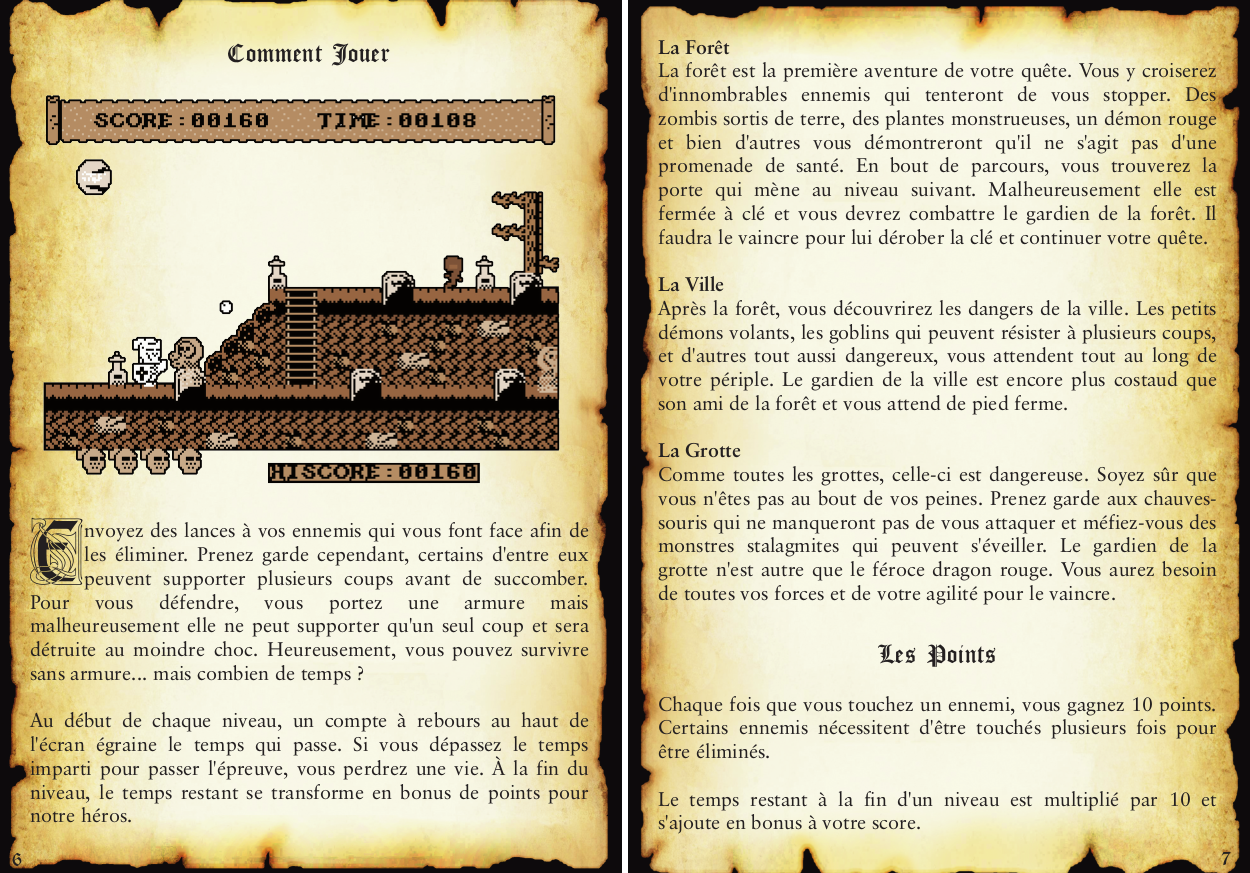 Pages de la notice de Knight'n more pour ColecoVision