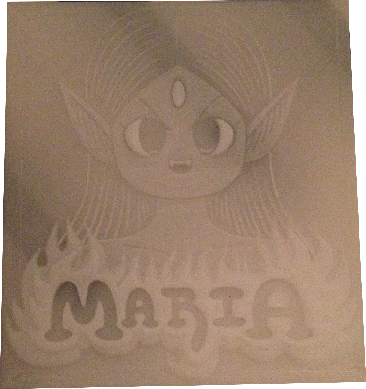 Maria Intellivision lithophane