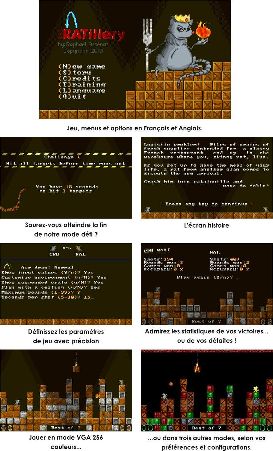 Ratillery for PC DOS menus