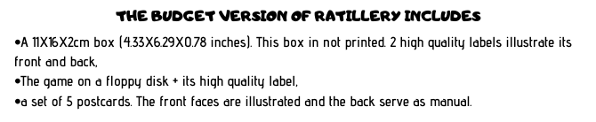 Ratillery content and bonuses