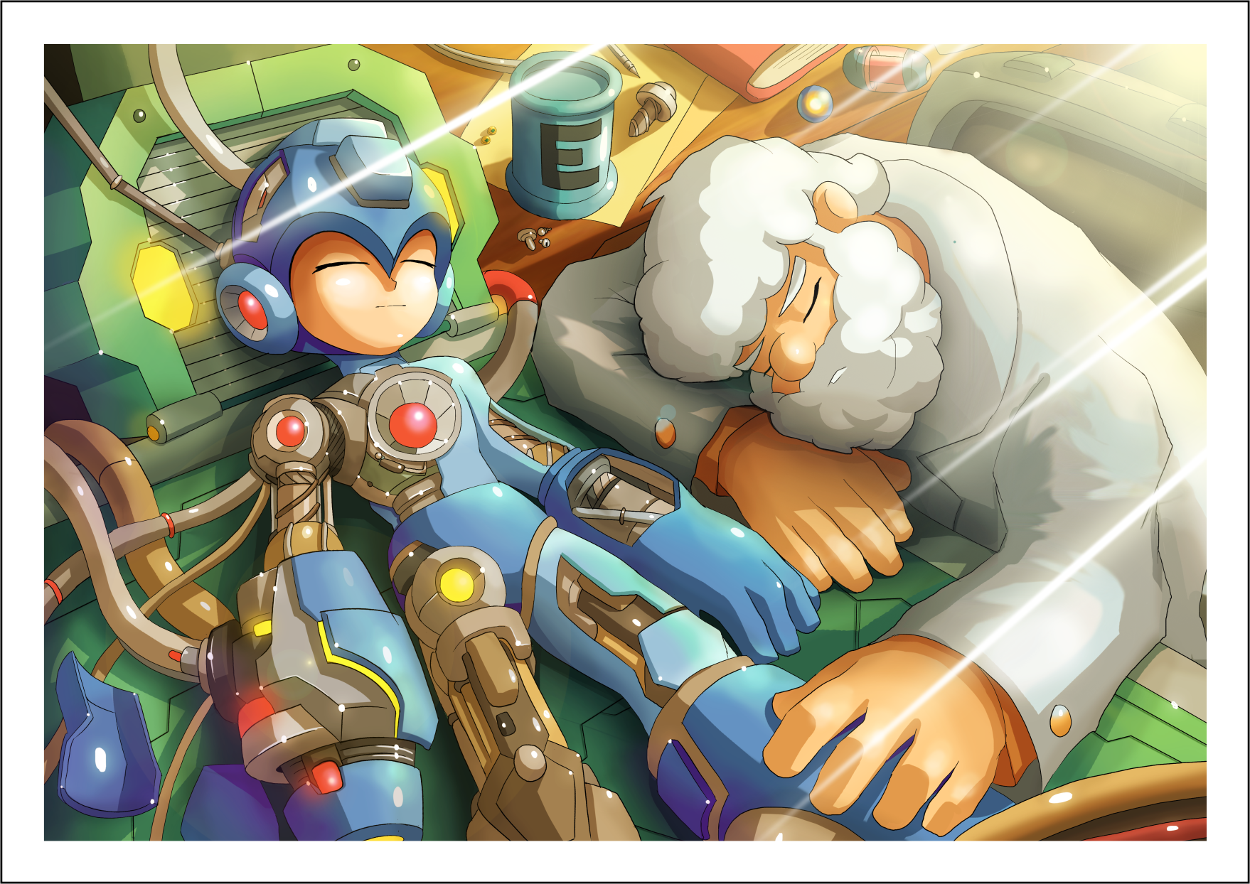 Lithographie Mega Man Recto