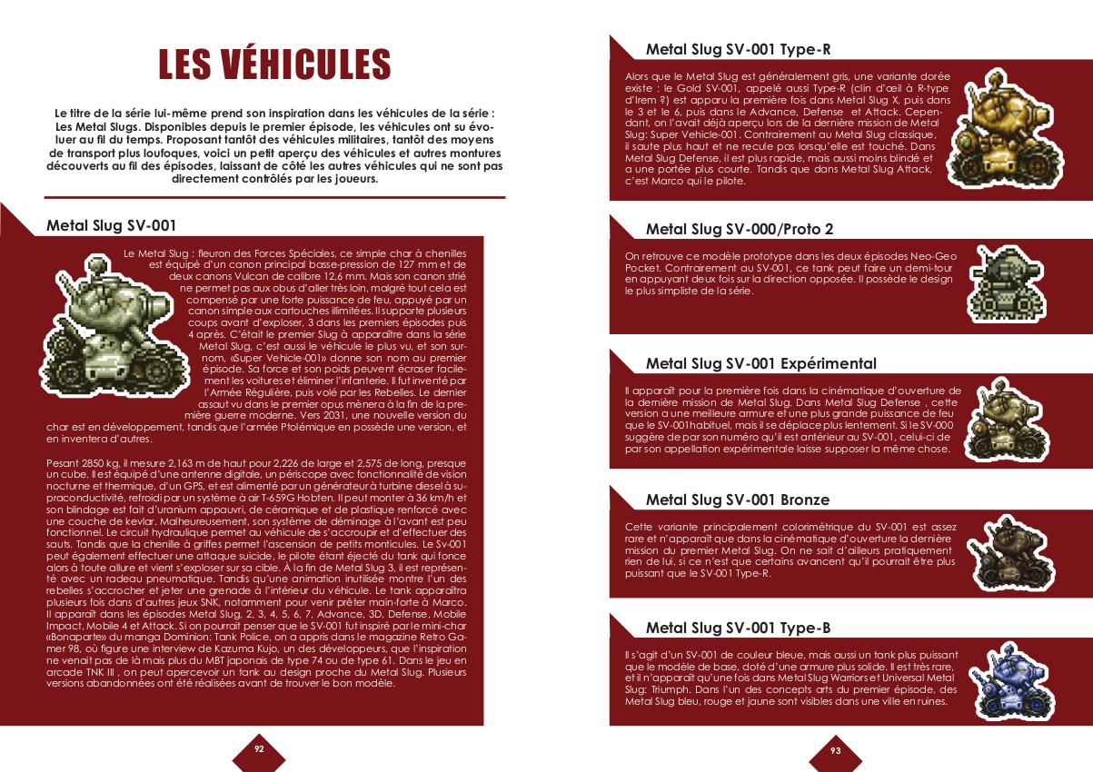 Replay Vol.1 - Metal Slug - les véhicules et armes