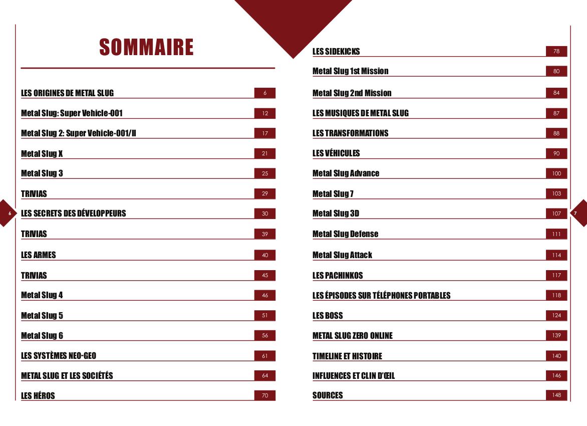 Metal Slug - Replay Vol.1 - sommaire