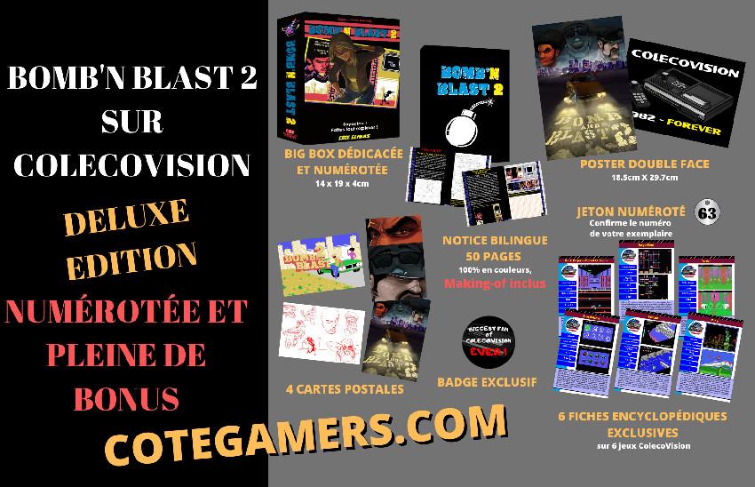 Bomb'n Blast 2 colecovision contenu de l'édition deluxe