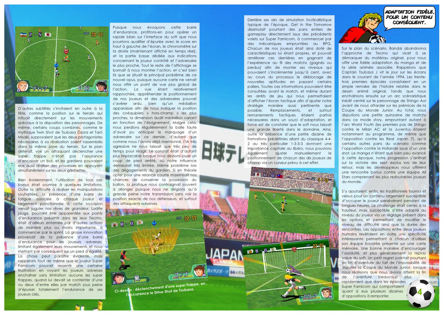 De Nankatsu à Barcelone 40 ans de Captain Tsubasa, Jeux vidéoextrait 1