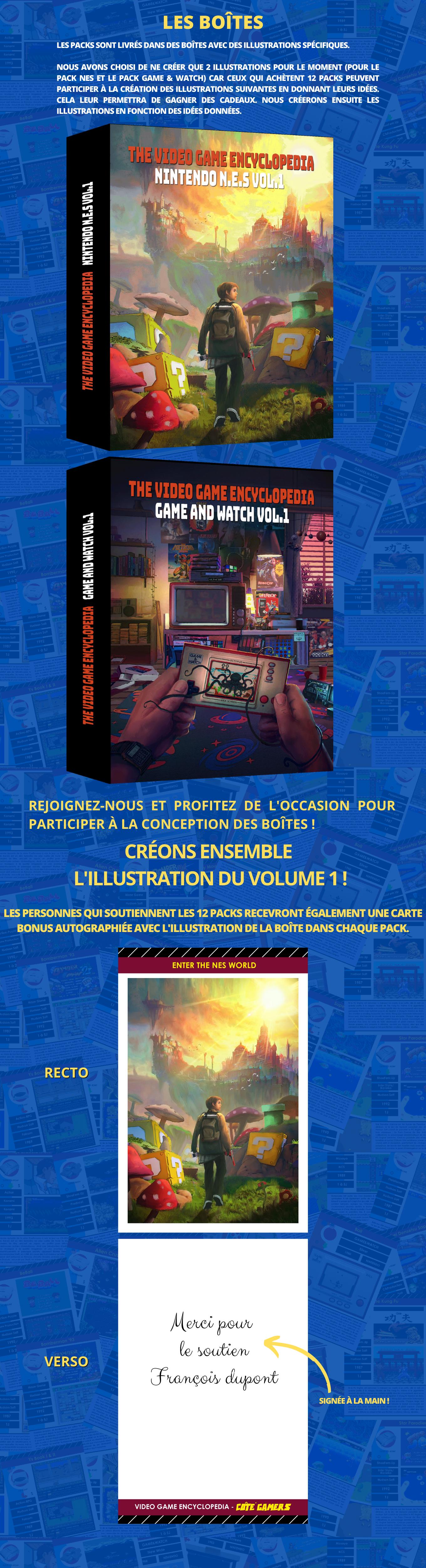 Les boîtes de l'encyclopédie du jeu vidéo