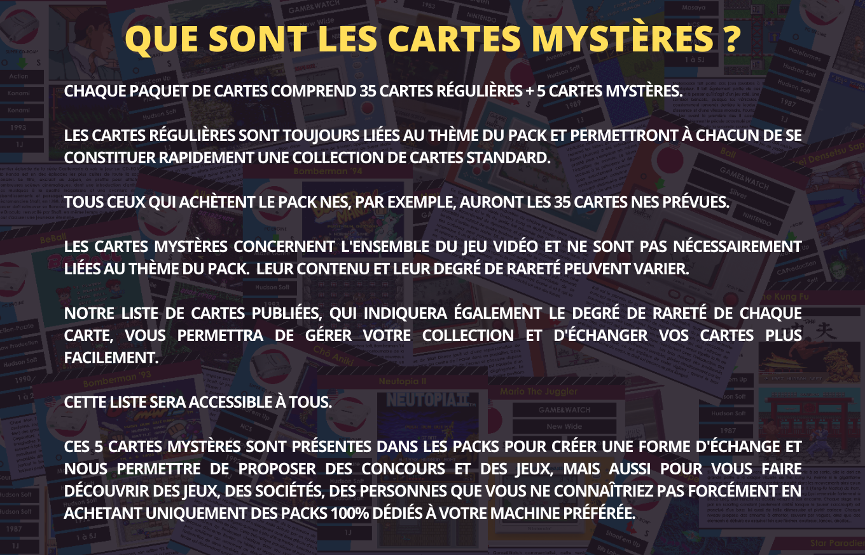 Les cartes mystères de l'encyclopédie du jeu vidéo