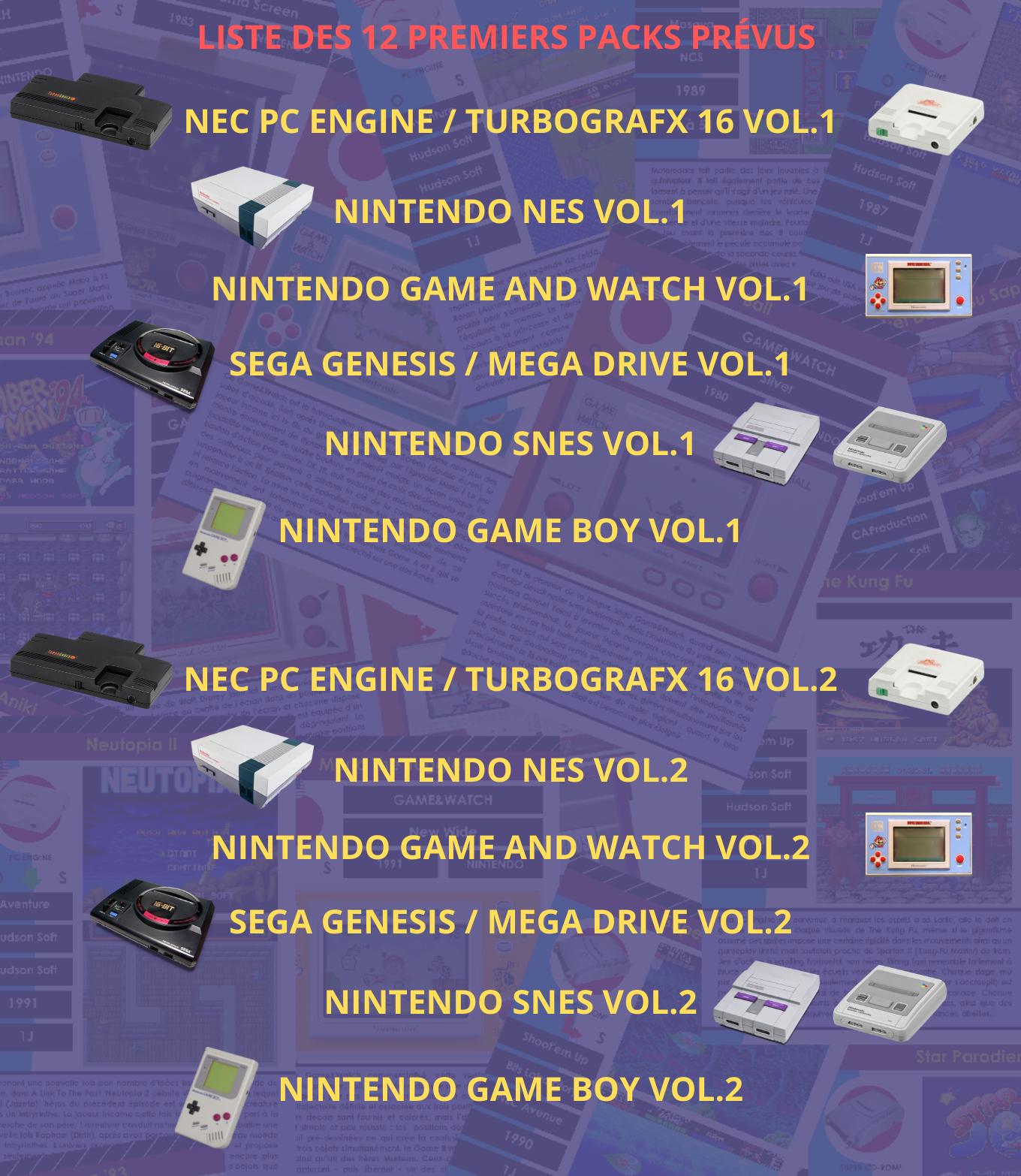Liste des 12 premiers packs de l'encyclopédie du jeu vidéo