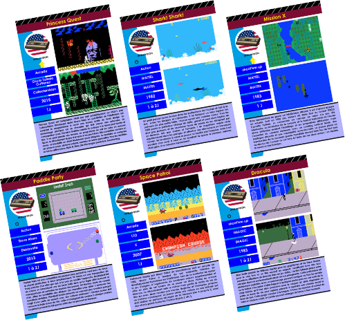 Fiches encyclopédie intellivision - intellivision encyclopedic files